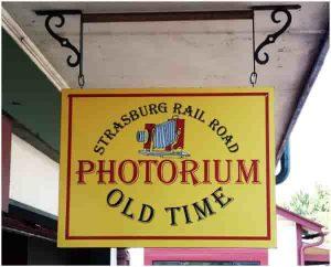 photorium hanging sign