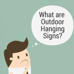 what are outdoor hanging signs