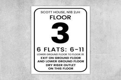 Building Floor Number Signs