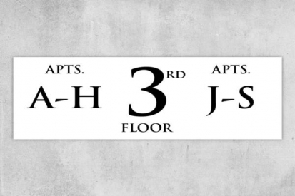 3rd Floor Directional Building Signs