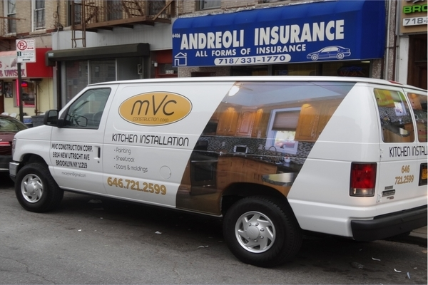 Van Wraps For MVC kitchen Installation
