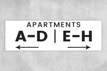 Building Apartment Signs