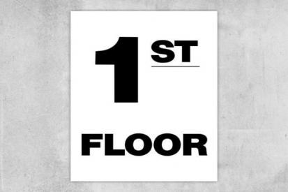 Building 1st Floor Sign
