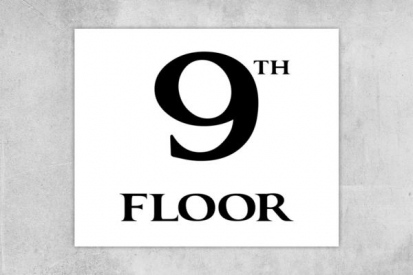 9th Floor Number Sign