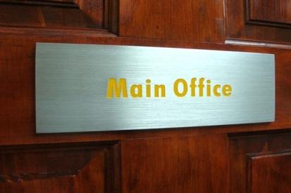 Metal Main Office Sign
