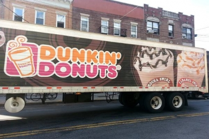 Box Truck Wraps For Dunkin Donuts