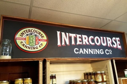 Hand Painted Sign For Intercourse Canning