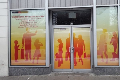 Retailer Storefront Glass Wraps Brooklyn
