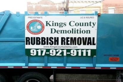 Commercial Sign For King County Demolition