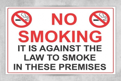 No Smoking Signs for Building Premises