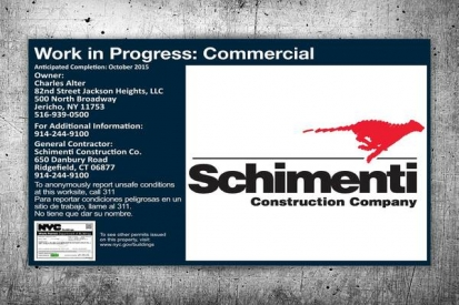 Commercial Work In Progress Sign