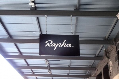 Hand Painted Sign For Rapha