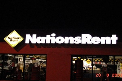 LED Channel Letters For Nations Rent