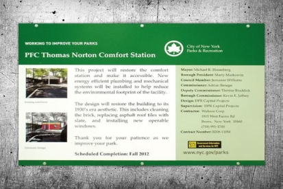Contractor Information Sign