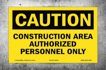 Construction Area Safety Sign