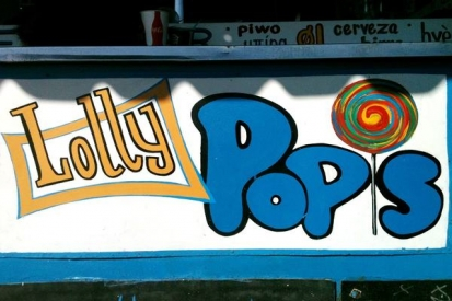 Hand Painted Sign For Lolly Pops Shop