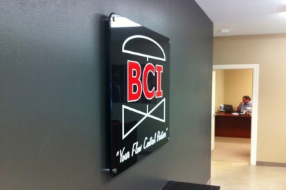Office Wall Reception Sign