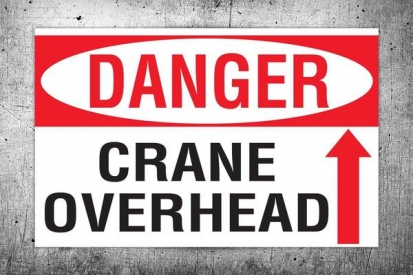 Crane Overhead Danger Sign