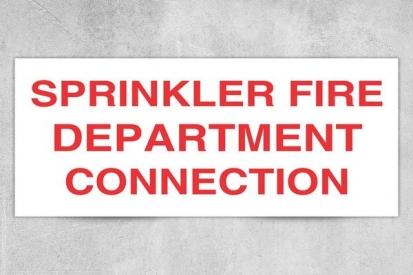 Sprinkler Fire Dept. Connection Sign