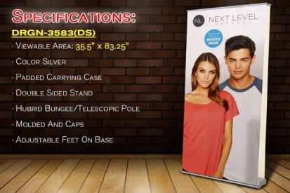 Roll up Double Sided Banner Stand