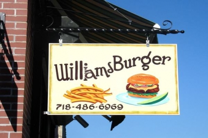Hand Painted Sign For Williams Burger
