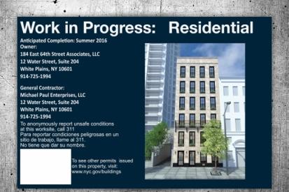 Residential Work in Progress Sign