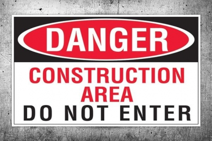 Do Not Enter Construction Sign