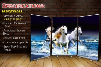 Wide Wall Retractable Banner Stand