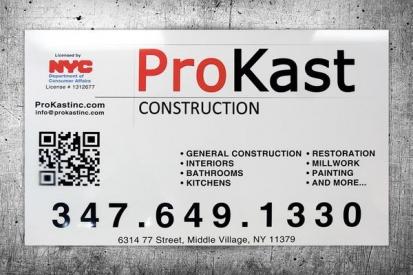 Licensed Work in Progress Sign