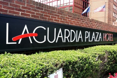 Plastic Letters Sign For Laguardia Plaza