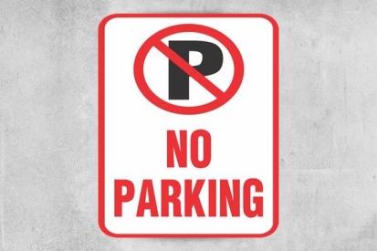No Parking Building Sign