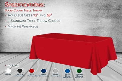 Blank Solid Color Table Throw