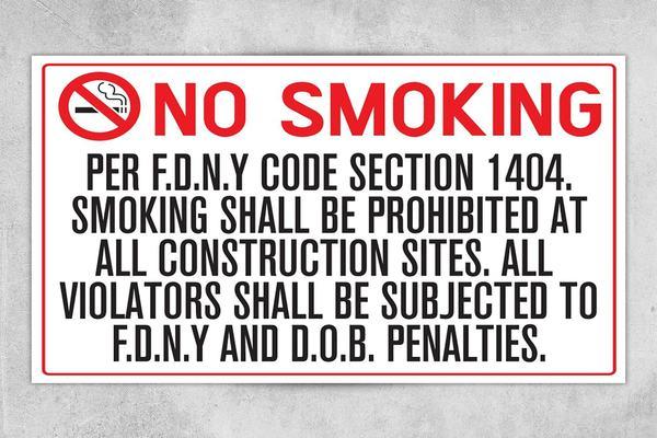 Smoking Violation Building Signs