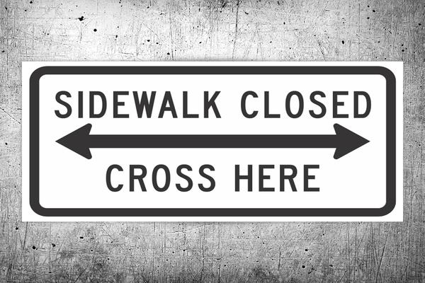 side walk closed