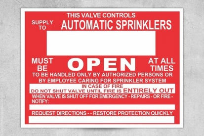 Automatic Sprinklers Sign
