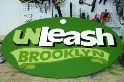 Hand Painted Sign For Unleash Brooklyn