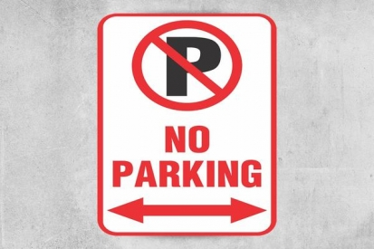 No Parking Sign With Arrow