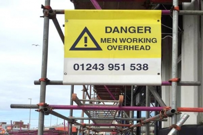 Danger Scaffolding Sign
