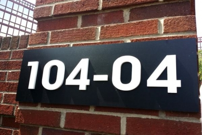 Metal Building Numbers Sign