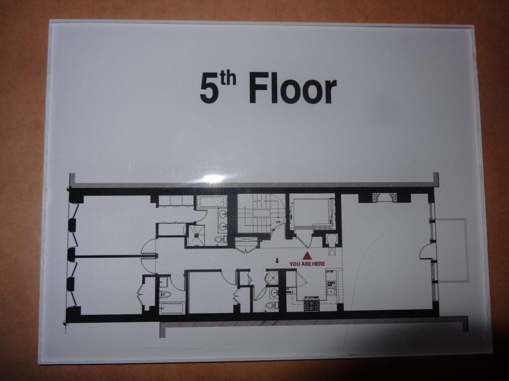 5th floor number egress map