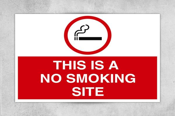 This is a No Smoking Site Sign