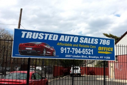 Flat Metal Sign For Car Showroom