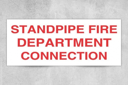 Standpipe Fire Department Sign