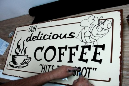 Hand Painted Sign For Restaurants