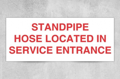Standpipe Hose Location Sign