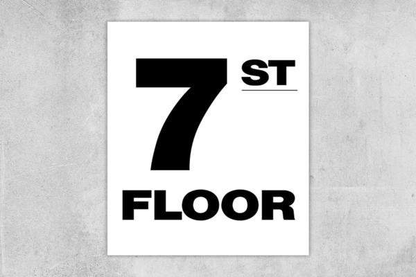 7th Floor Number Sign