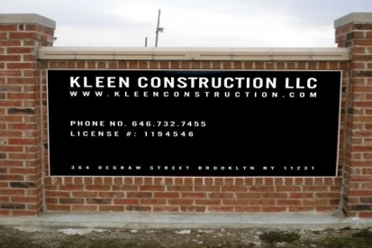 Dibond Sign Board For KLEEN Construction
