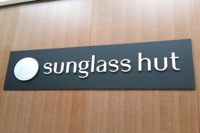 Flat Cut Metal Letters For Sunglass Hut