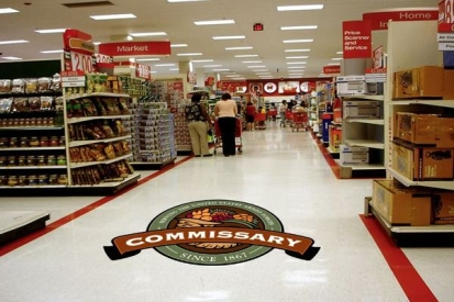 Floor Logo Graphics For Commissary Store