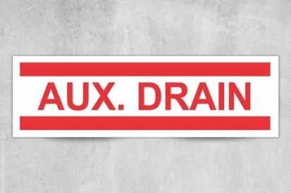AUX. Drain Sign